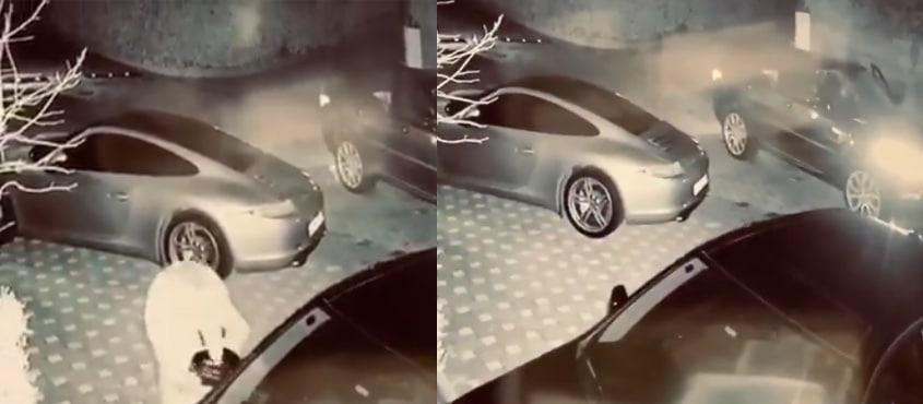 Sunucu Ece Erken gece yarısı ev basıp araçlara saldırdı