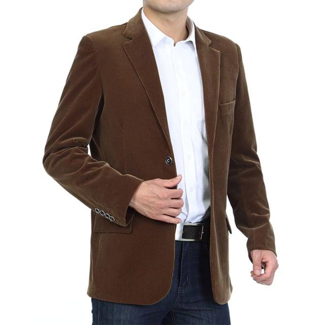 Erkek Kahverengi Kadife Ceket
