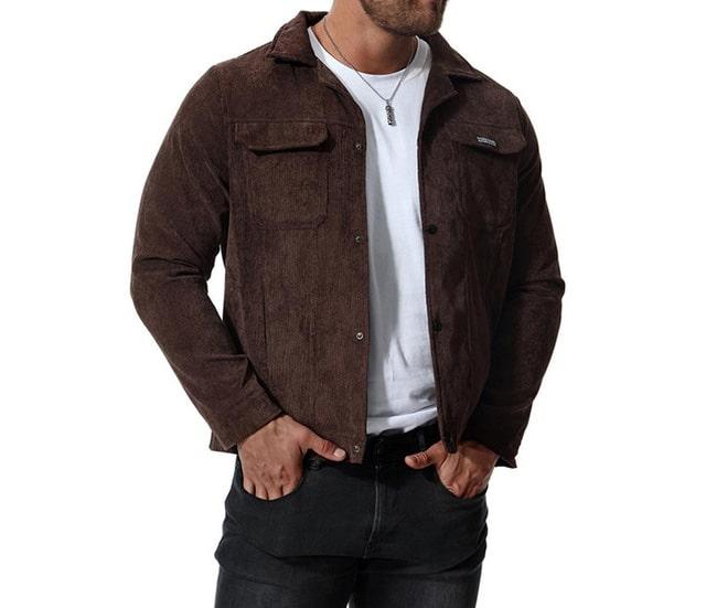 Erkek Mor Kadife Ceket