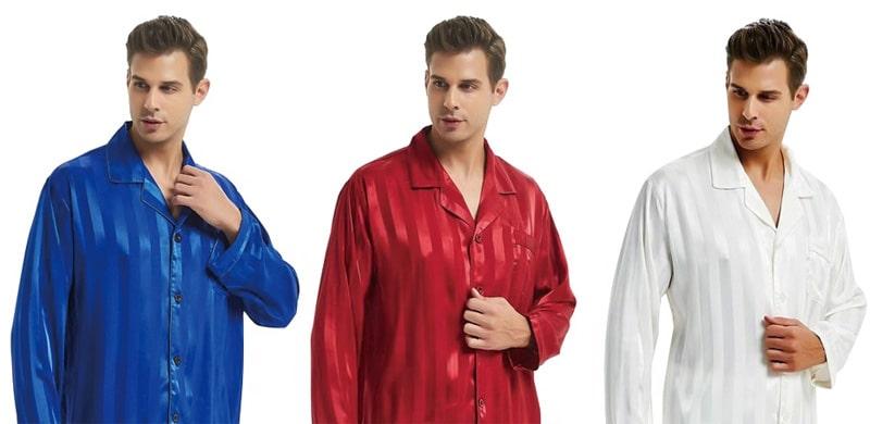 Erkek Saten Pijama Takımı Modelleri