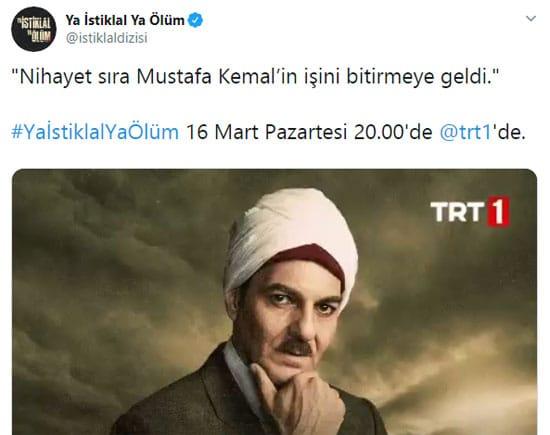 """""""Ya İstiklal Ya Ölüm"""" hesabından Atatürk'e hakaret!"""