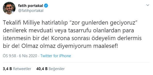 Fatih Portakal ne demişti?