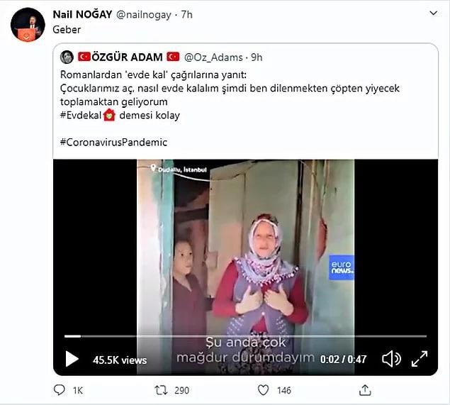 """İstanbul Aile ve Sosyal Politikalar İl Müdür yardımcısı Nail Noğay alıntılayarak """"Geber"""""""