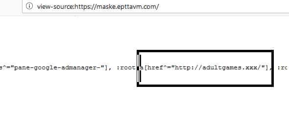 PttAVM maske sayfası kod görüntüsü