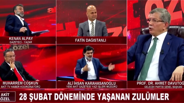 Akit TV'de Ali İhsan Karahasanoğlu'na Ahmet Davutoğlu'ndan tarihi kapak