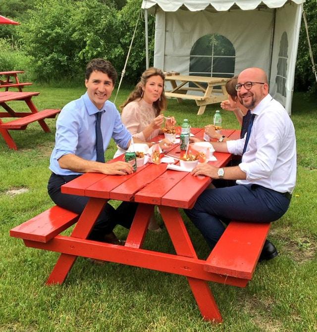 Kanada Başbakanı Justin Trudeau ve Belçika Başbakanı Charles Michel