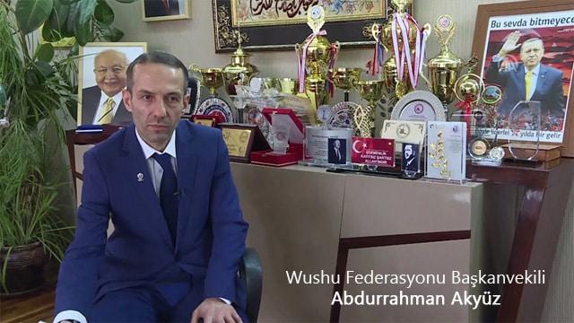 Türkiye Wushu Federasyonu (TWF) Başkanvekili Abdurrahman Akyüz
