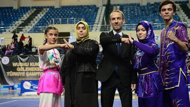Babası Başkanvekili, annesi hakem, kızı şampiyon!