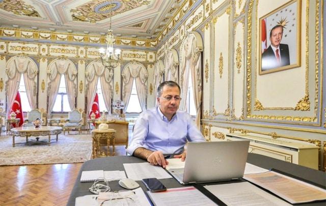 İstanbul Valisi Ali Yerlikaya'nın çalışma ofisi