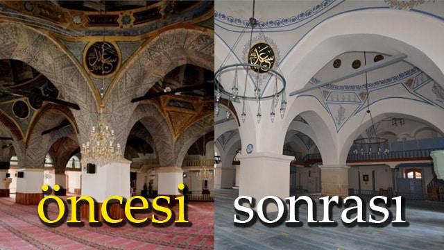 500 yıllık Nasrullah Camii'ne restorasyon değil badana yaptılar