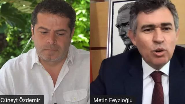Cüneyt Özdemir'in yayınına katılan Metin Feyzioğlu'nu şok ettiler