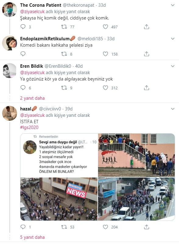 Bakan Ziya Selçuk'un paylaşımına tepki yağdı!