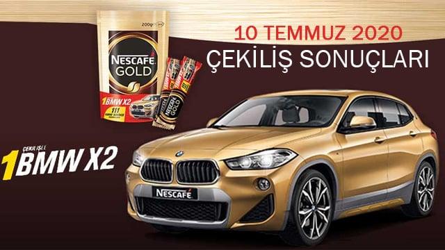Nescafe Gold BMW x2 çekiliş sonuçları 2020