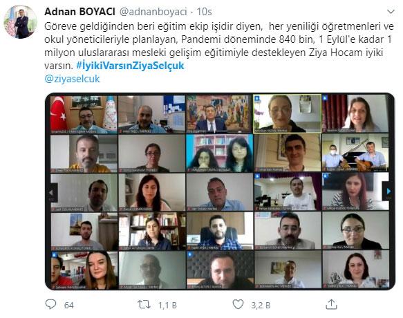 MEB Öğretmen Yetiştirme ve  Geliştirme Genel Müdürü Adnan Boyacı