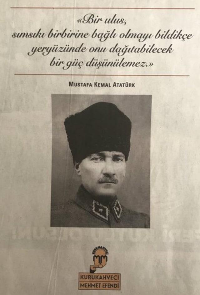 """""""Bir ulus, sımsıkı birbirine bağlı olmayı bildikçe, yeryüzünde onu dağıtabilecek bir güç düşünülemez."""" Mustafa Kemal Atatürk"""