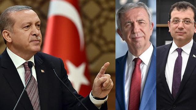 Mansur Yavaş  Ekrem İmamoğlu Recep Tayyip Erdoğan