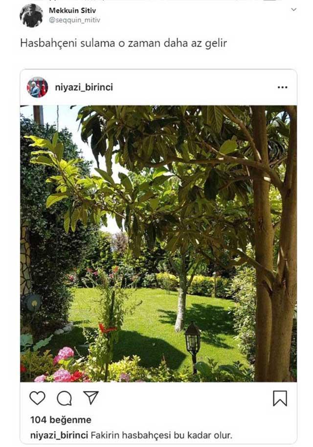 Yavuz Bahadıroğlu'nun suladığı has bahçesi