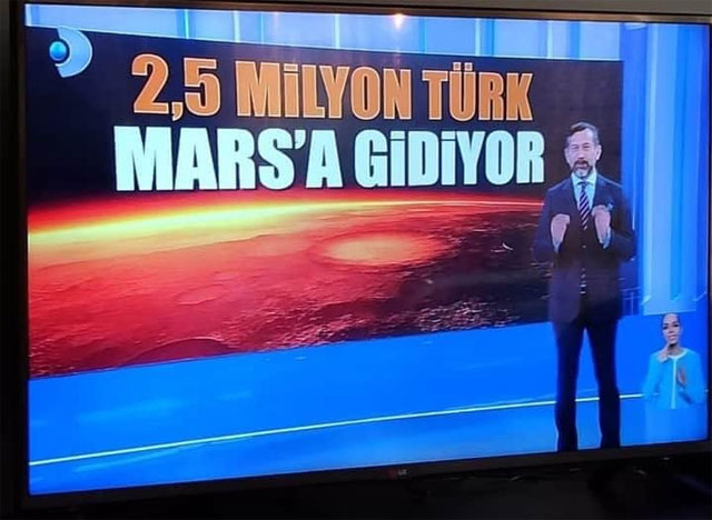 2,5 Milyon Türk Mars'a gidiyor!
