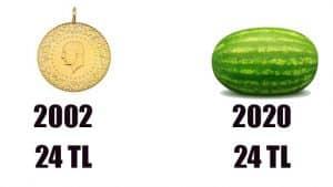 2002 asgari ücret ve altın fiyatı ne kadardı?