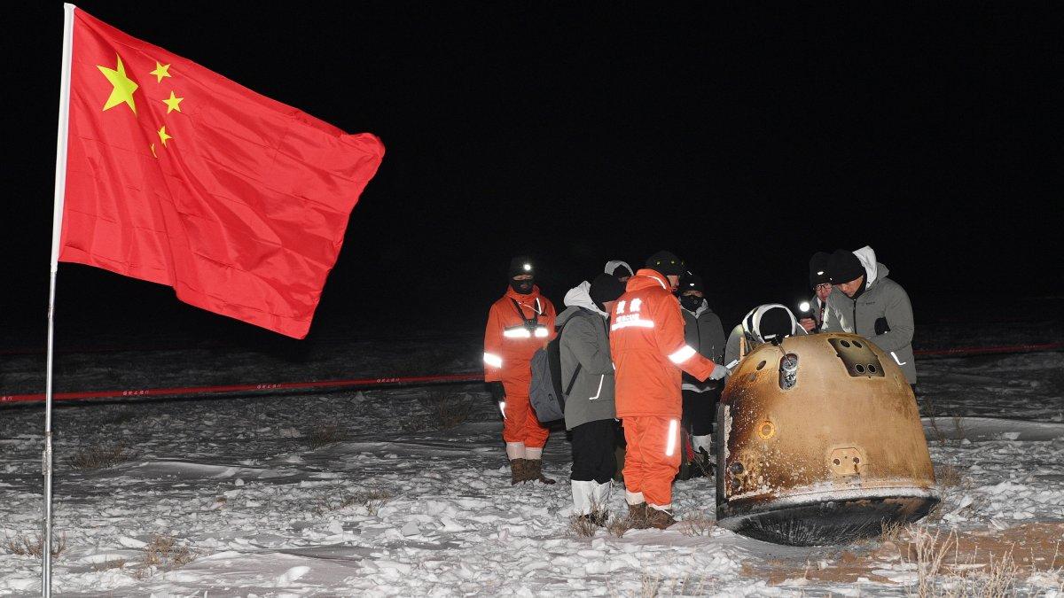 Çin'in Chang'e 5 uzay aracı Dünya'ya döndü